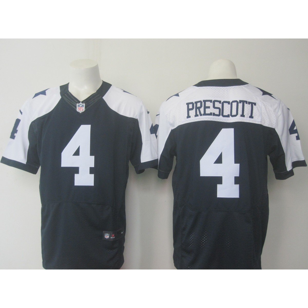half off c3e25 789c5 Nike Cowboys 4 Dak Prescott Thanksgiving Navy Blue Elite Jersey