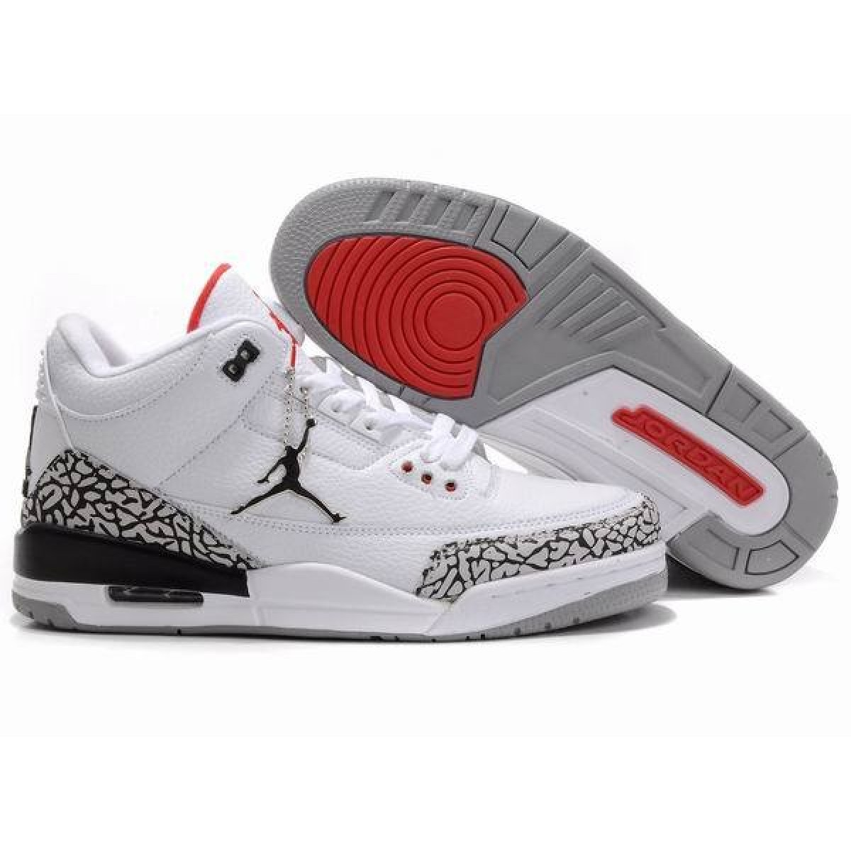 the best attitude 7872d 53575 Air jordan 3 Retro 88 White Fire Red-Cement Grey-Black