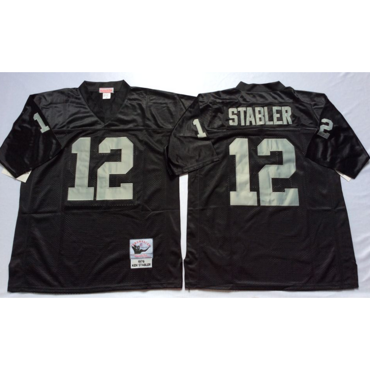 cheap for discount fe35d 2a53a NFL Mitchell and Ness Retired Oakland Raiders 12 Kenny Stabler Black Jersey