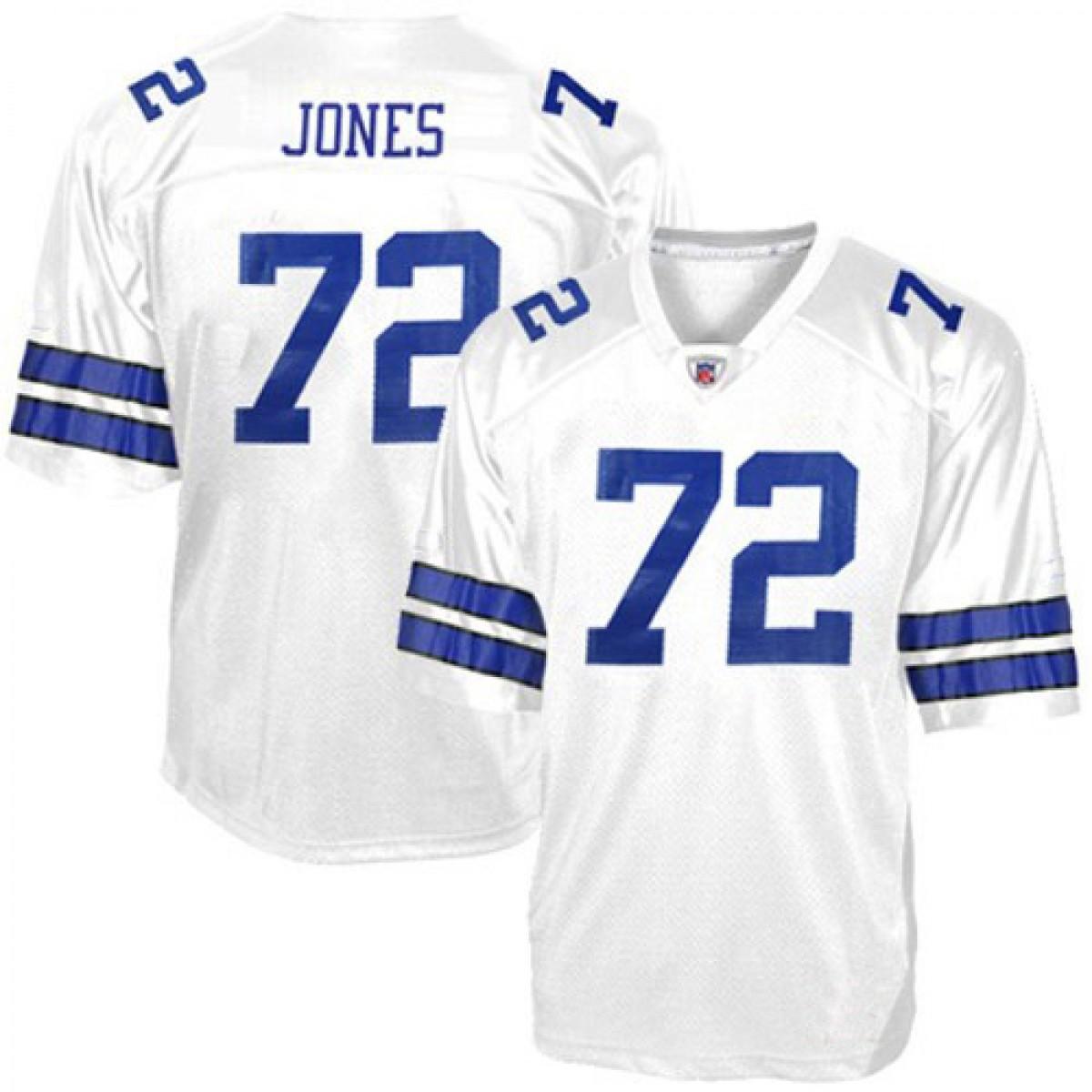 watch b02bb f4bc0 NFL Dallas Cowboys 72 E Jones White Football Men Jersey