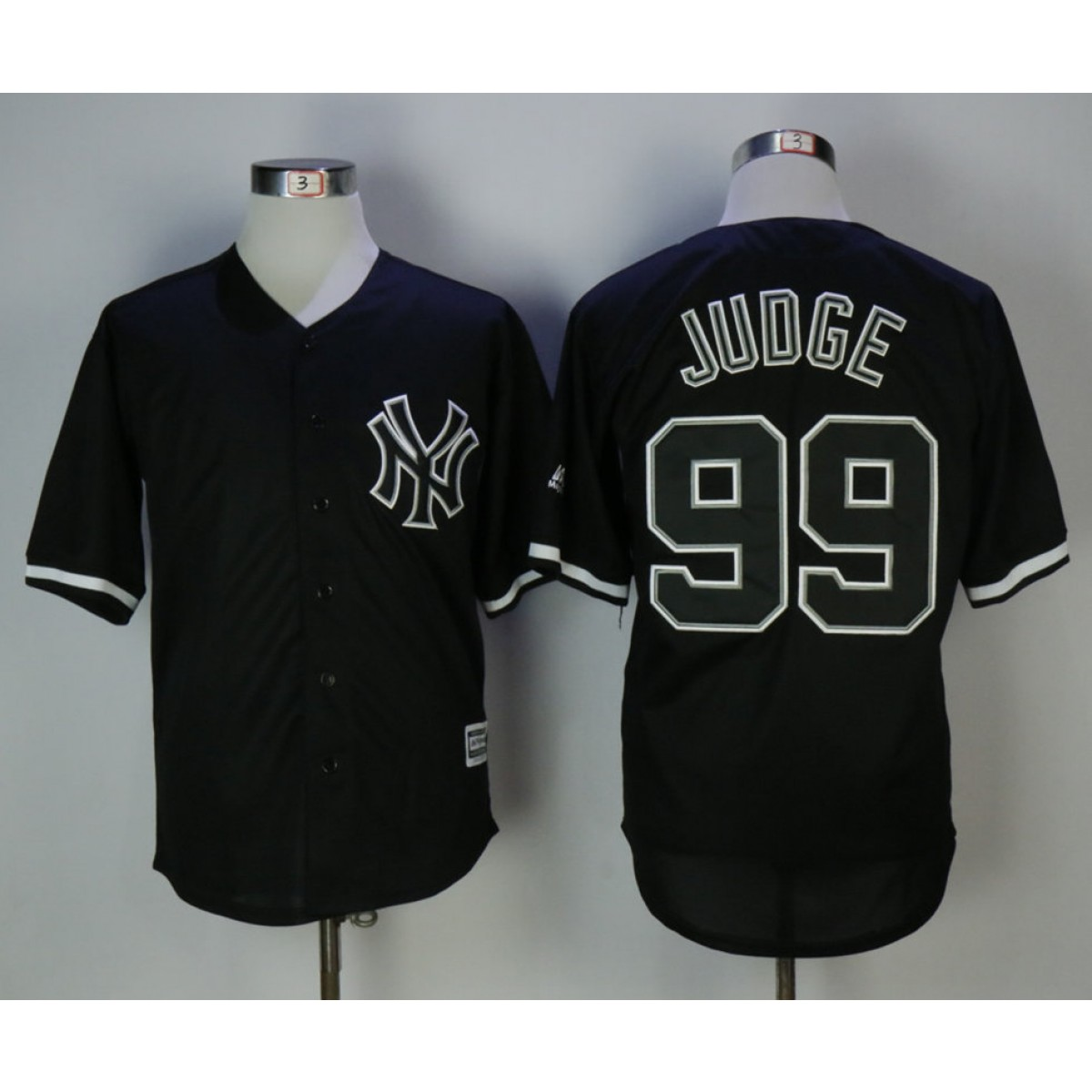 the latest 68e74 44f14 MLB Yankees 99 Aaron Judge Black Cool Base Men Jersey