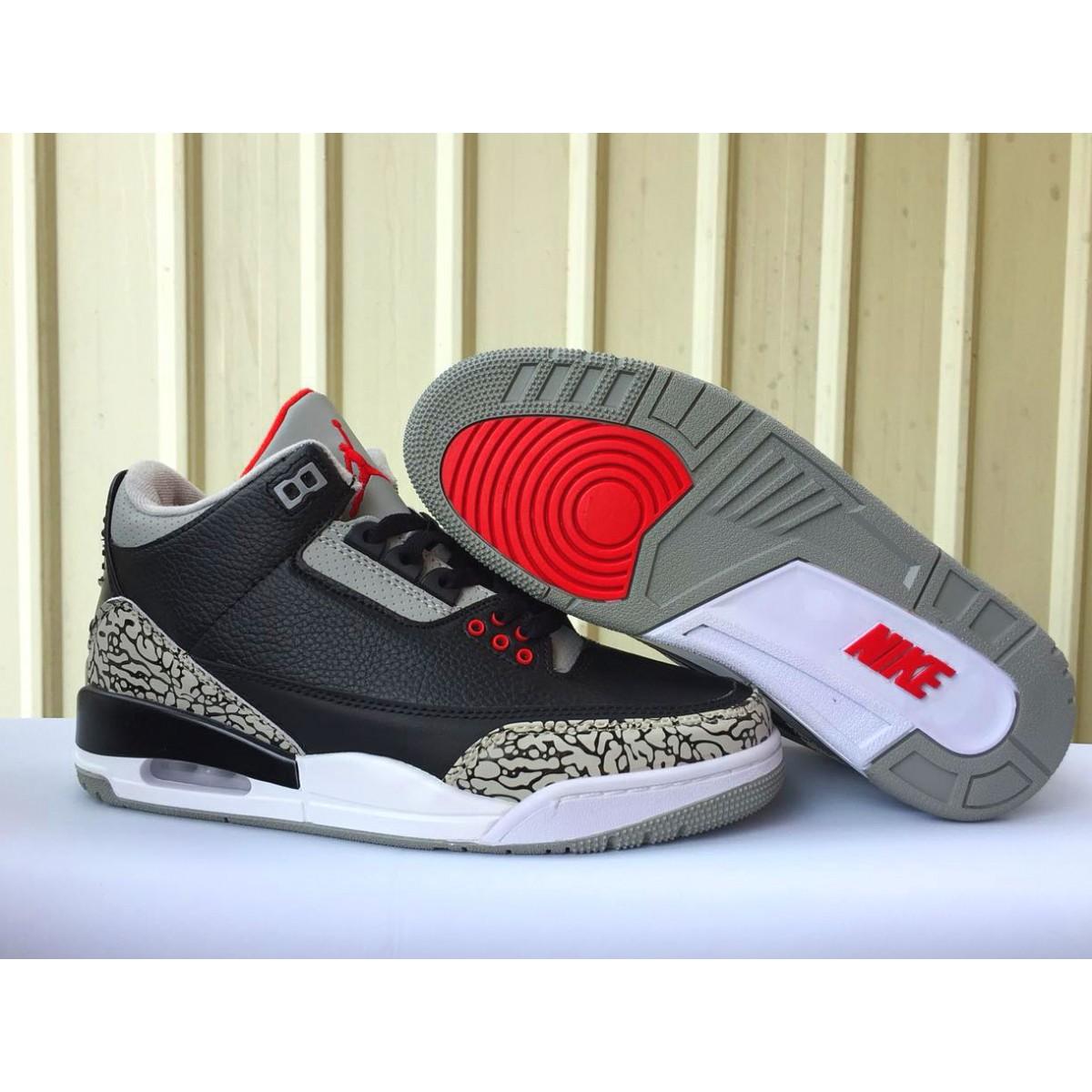 new product 390cf 1c943 Air Jordan 3 Retro OG Black Cement Basketball Men Shoes