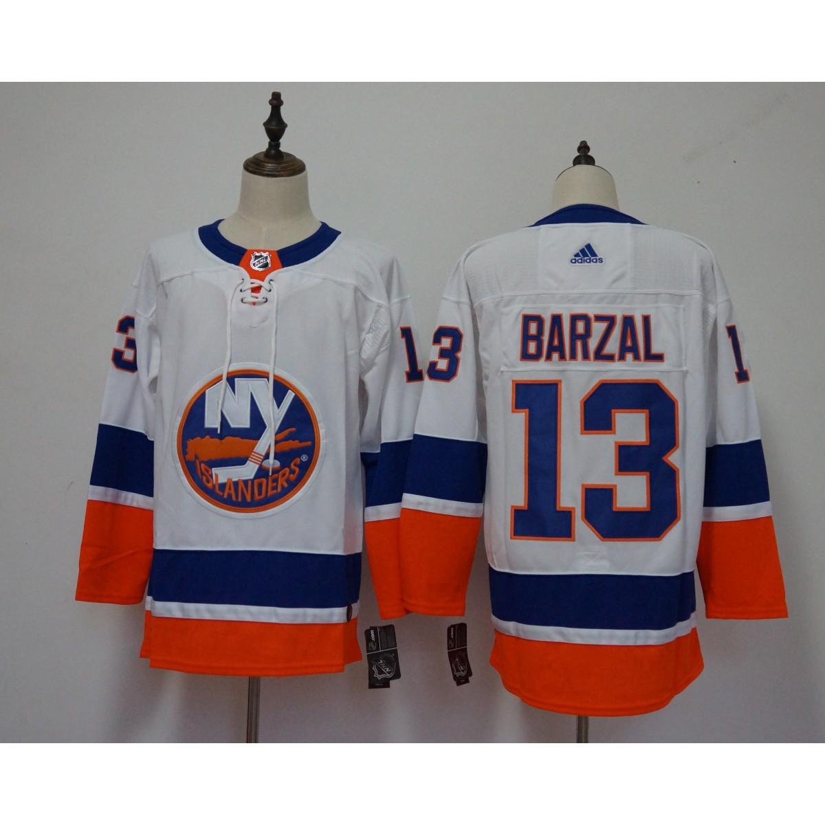 buy popular bd0c5 5202e NHL Islanders 13 Mathew Barzal White Adidas Men Jersey