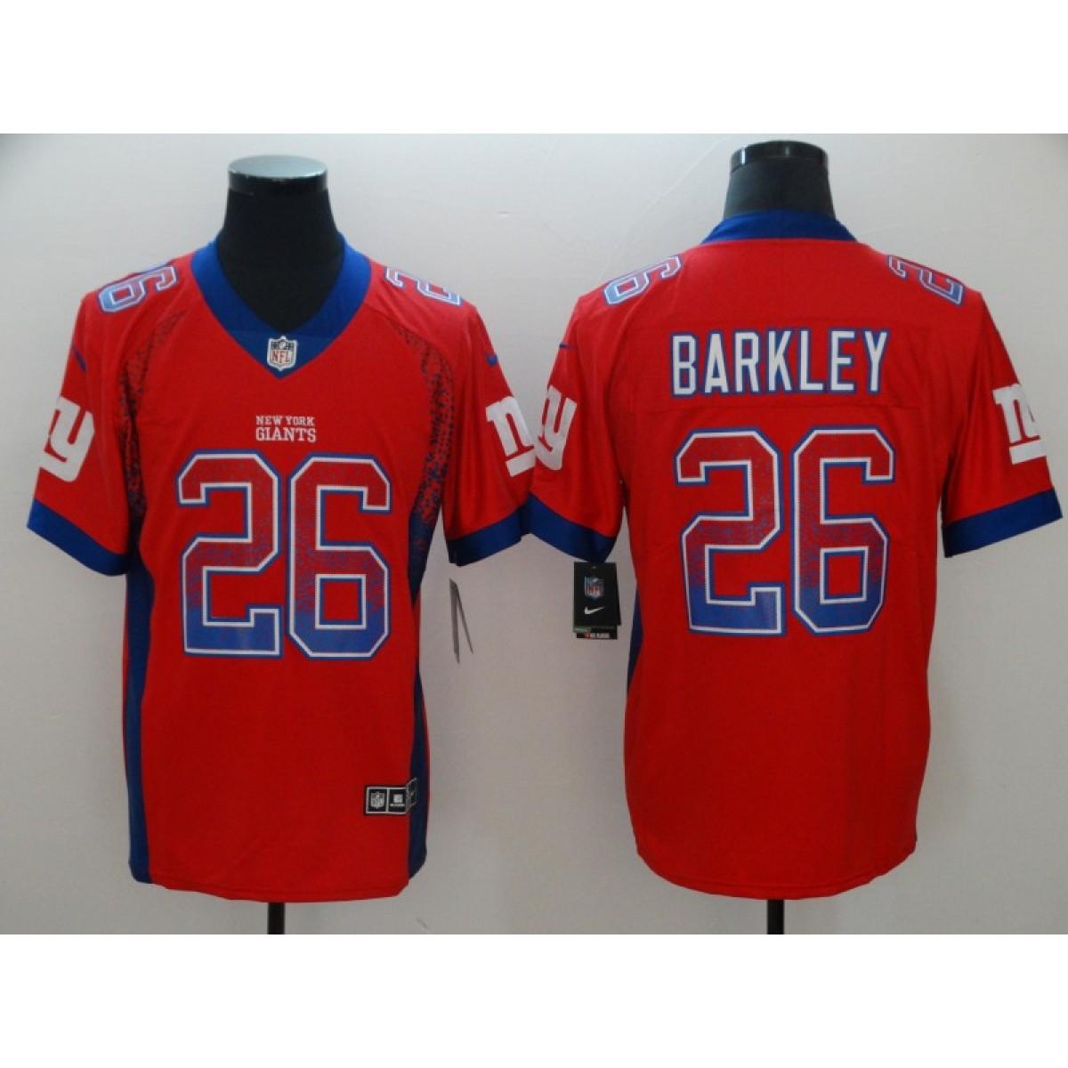 3e28f856f Nike Giants 26 Saquon Barkley Red Drift Fashion Vapor Limited Men ...