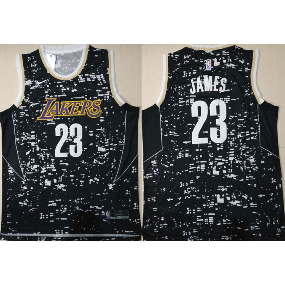 competitive price 82d93 2e0de NBA Lakers 23 Lebron James Black City Luminous Nike Swingman Men Jersey