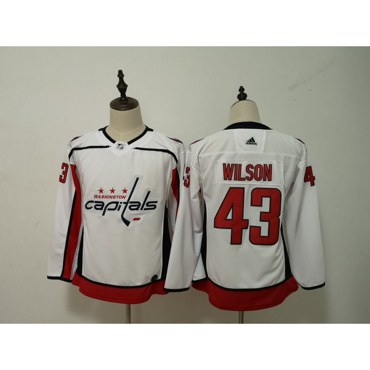 competitive price d1e18 2d0e2 NHL Capitals 43 Tom Wilson Adidas White Youth Jersey