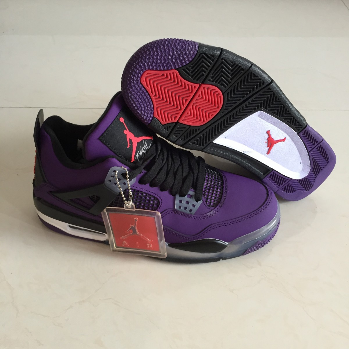 designer fashion e7724 54db0 Air Jordan 4 Travis Scott Purple Shoes