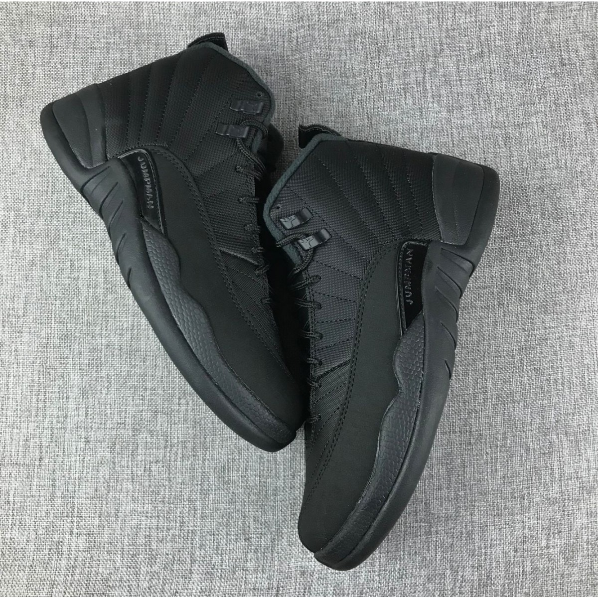 newest 70144 80290 Air Jordan 12 'Winterized' Black Shoes