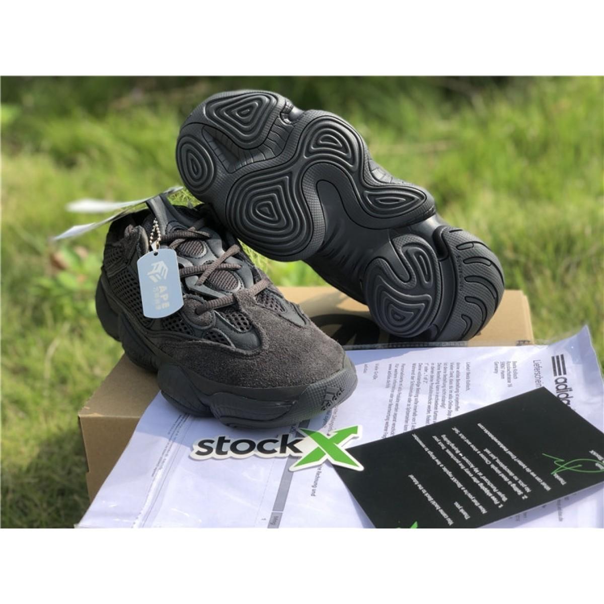 the latest addbd fcfe5 Adidas Yeezy 500 Desert Rat Black Shoes