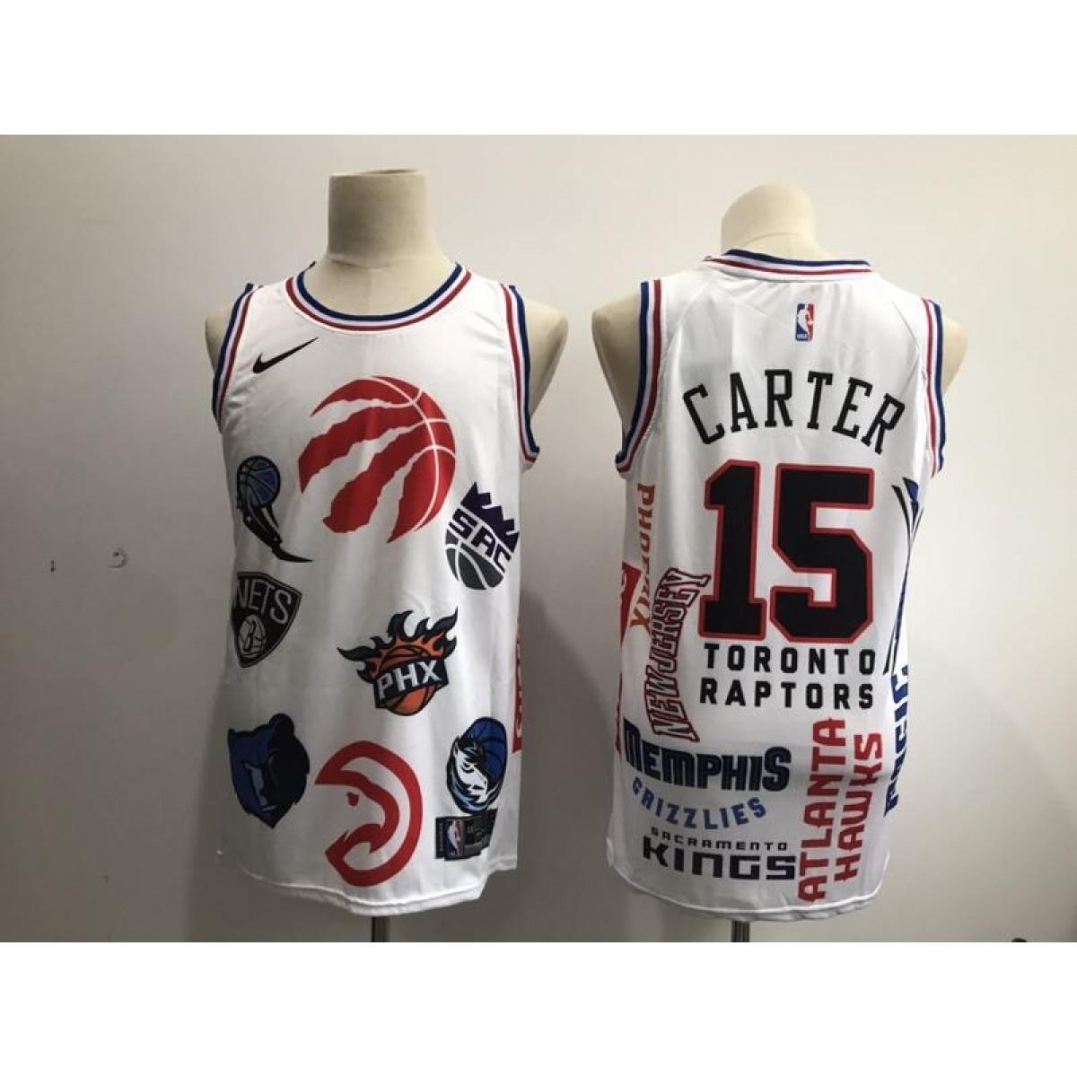 best service fcb21 80a5a NBA Raptors 15 Vince Carter White Nike Men Jersey