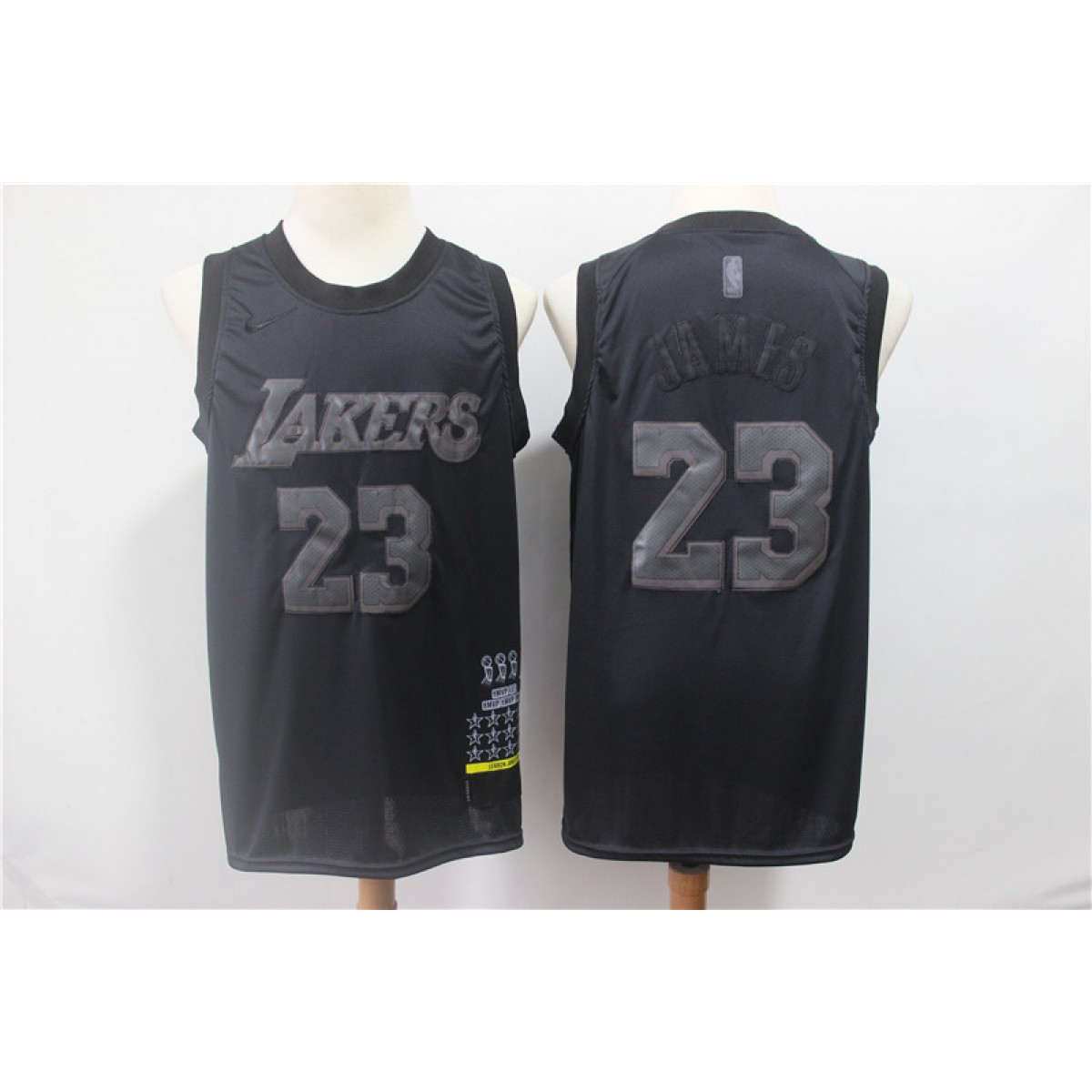 best website 15b63 a1c65 NBA Lakers 23 Lebron James Black MVP Honorary Edition Nike Men Jersey