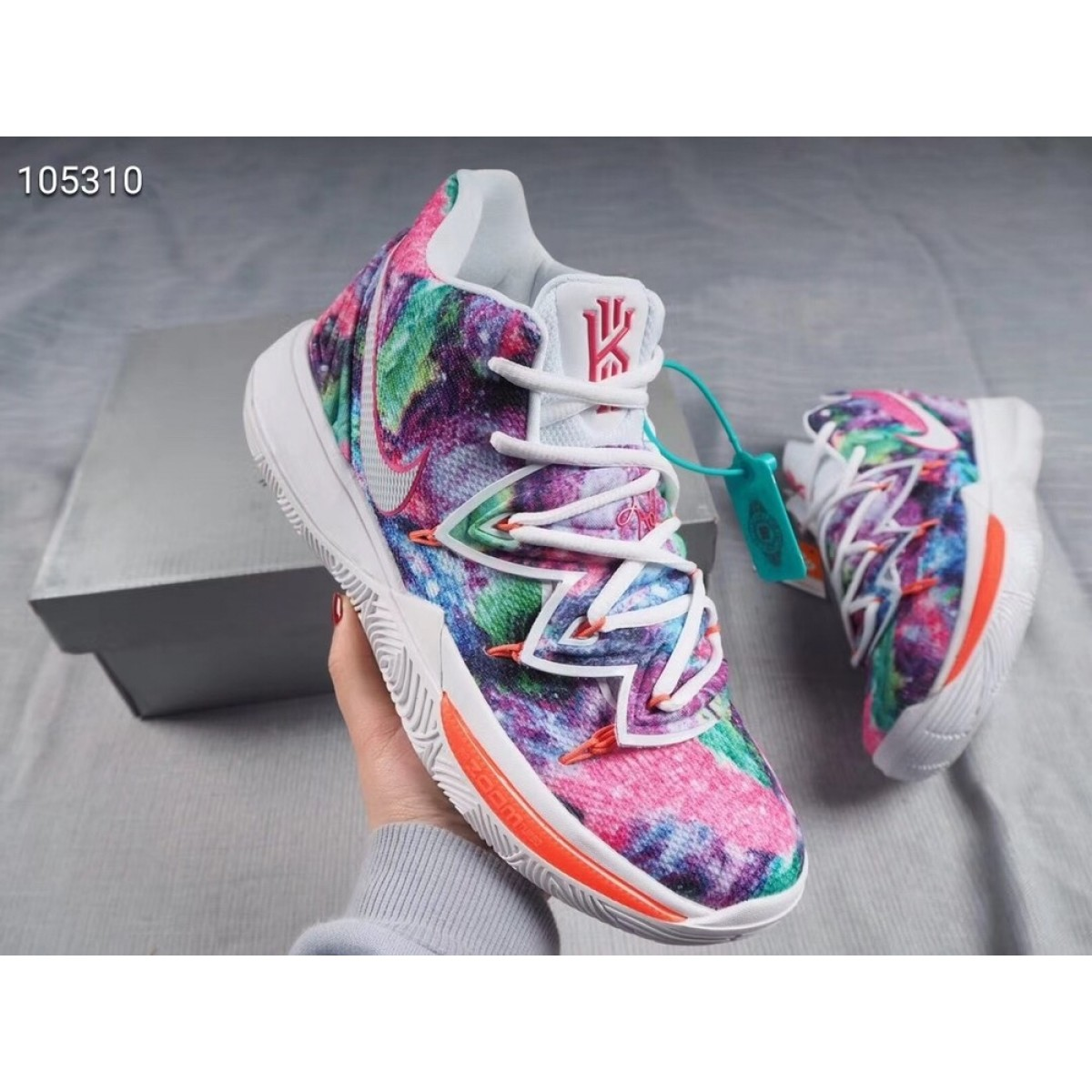 """04b37acd7be7 Nike Kyrie 5 PE """"Neon Blends"""" Shoes"""