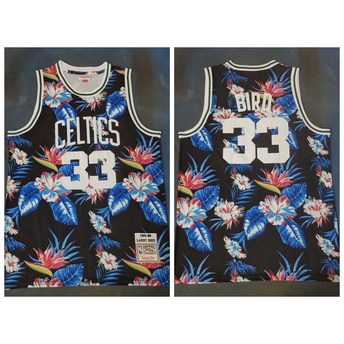 super popular e82e5 efaa1 NBA Celtics 33 Larry Bird Black Fashion Hardwood Classics Men Jersey