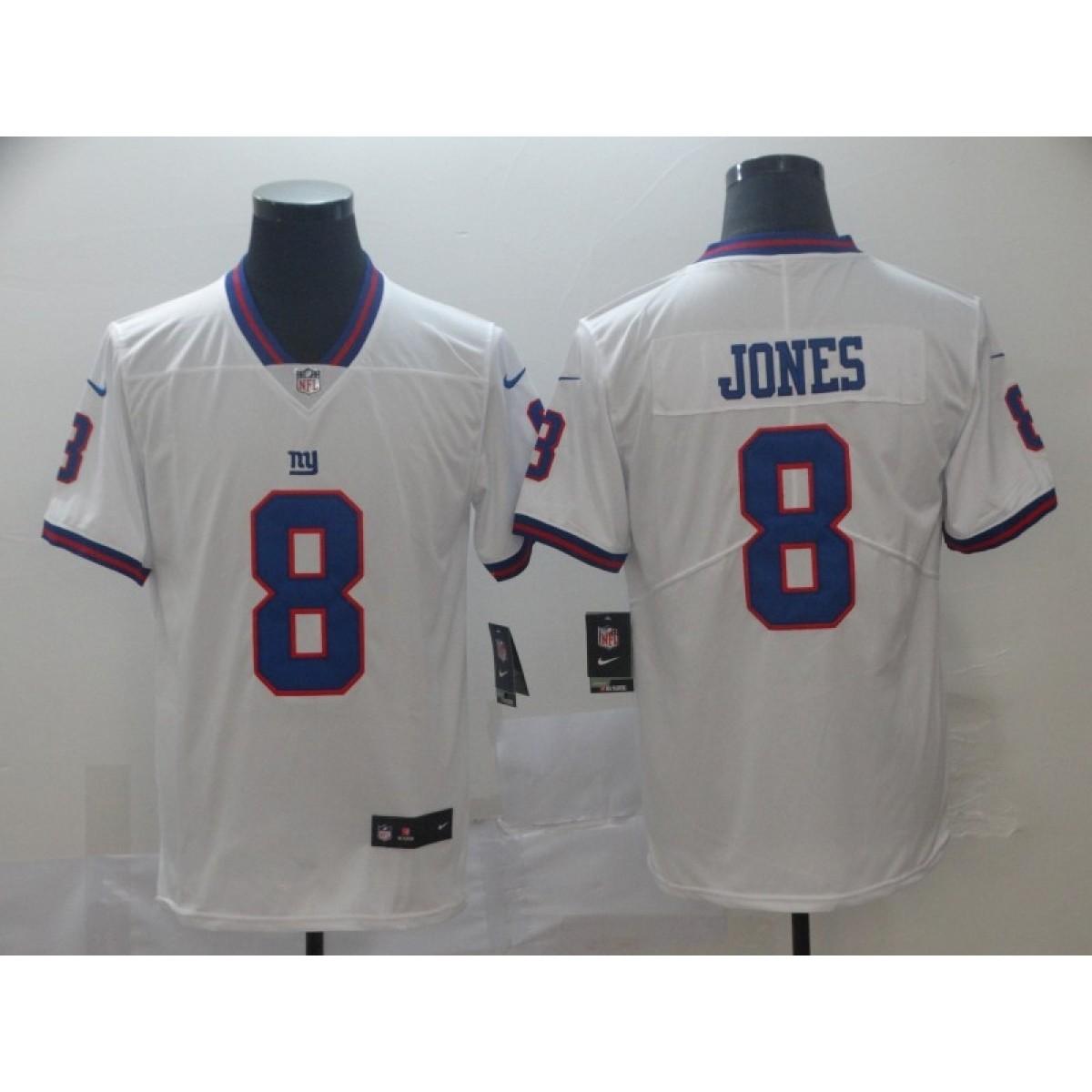 official photos e68c3 022c4 Nike Giants 8 Daniel Jones White 2019 NFL Draft Color Rush Limited Men  Jersey