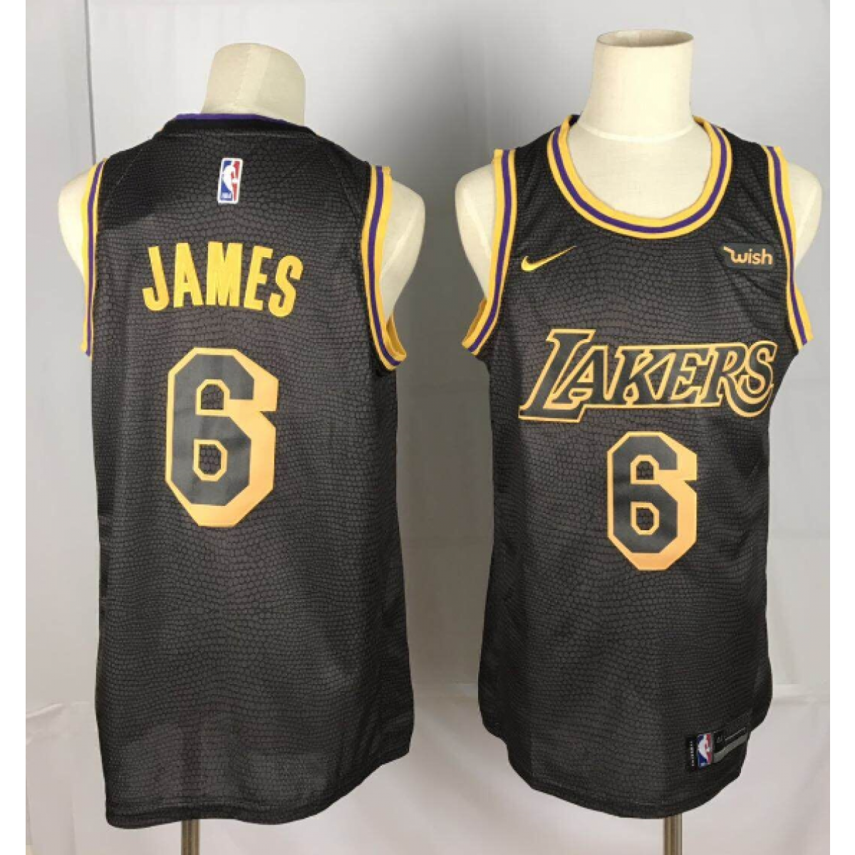 finest selection f75b0 83b1f NBA Lakers 6 LeBron James Black City Edition Nike Men Jersey