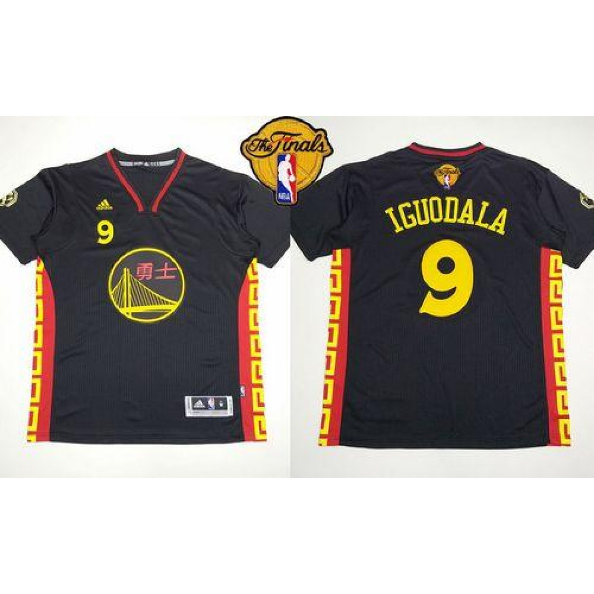 timeless design 48e44 93e2d NBA Warriors 9 Andre Iguodala Black Slate Chinese New Year The Finals Men  Jersey