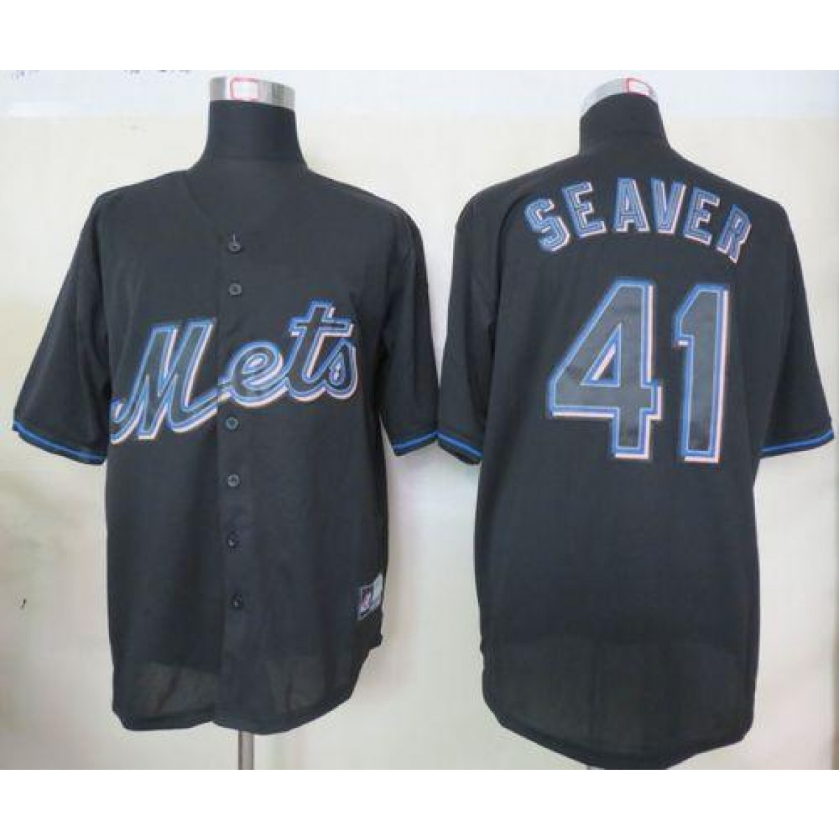 finest selection d2945 c5170 MLB Mets 41 Tom Seaver Black Fashion Men Jersey