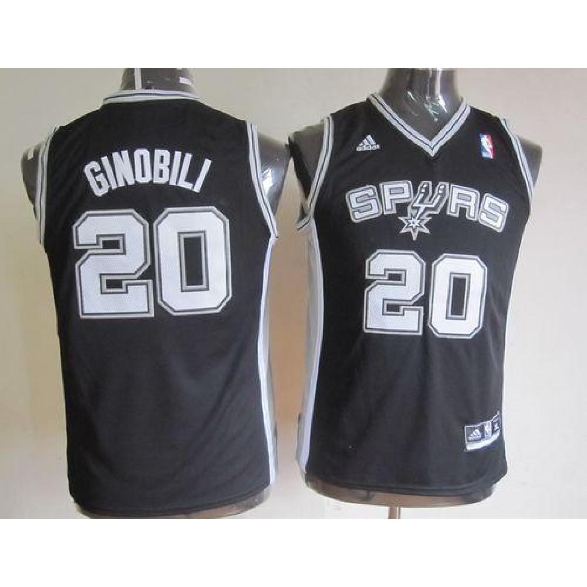 on sale 6b739 cc524 NBA Spurs 20 Manu Ginobili Black Youth Jersey