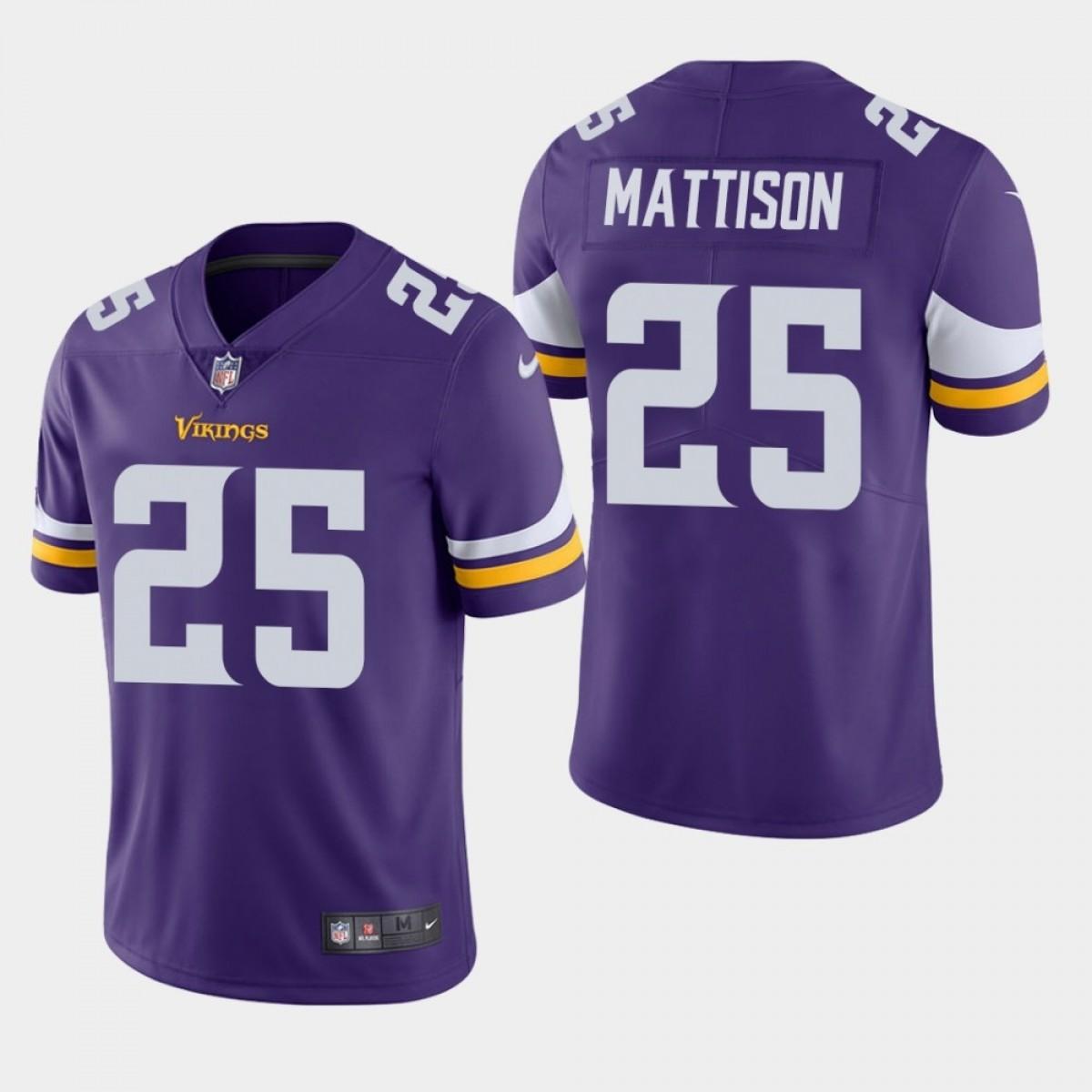 best sneakers 8c28b b1000 vikings 25 Alexander Mattison youth purple jersey