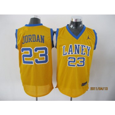 huge discount 50f07 22c2d High School Laney Bucs 23 Jordan Yellow Classic Men Jersey