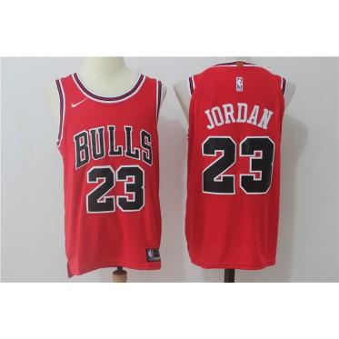 086ec29c857 NBA Bulls 23 Michael Jordan Red Nike Men Jersey