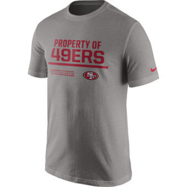 631712ff3 NFL 49ers Nike Property Of T-Shirt Heathered Gray