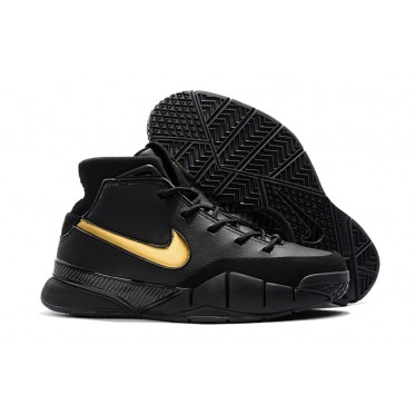 c126ab5939d8 Nike Kobe 1 Protro  Mamba Day  Black White Metallic Gold Shoes