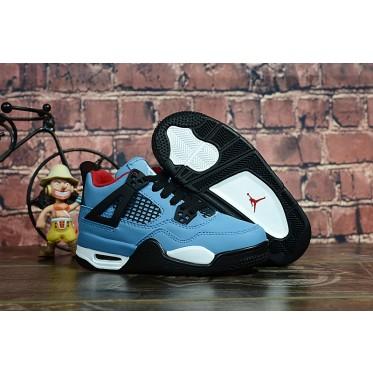 "Air Jordan 4 ""Travis Scott"" Blue Kids Shoes"