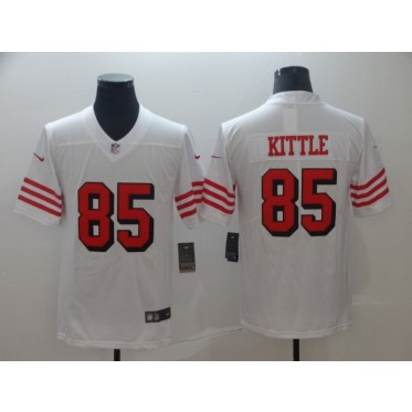 Nike 49ers 85 George Kittle White Vapor Untouchable Limited Men Jersey