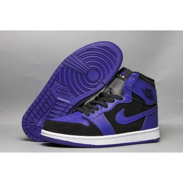 "Air Jordan 1 Mid ""Concord"" Black Purple Shoes"
