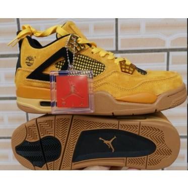 Air Jordan 4 IV Wheat Gold Black Shoes