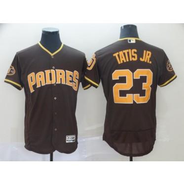 MLB Padres 23 Fernando Tatis Jr. Brown Flex Base Men Jersey