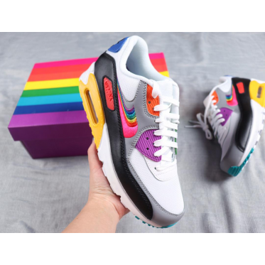 pretty nice cfed5 231be Nike Air Max 90 Be True Rainbow Shoes
