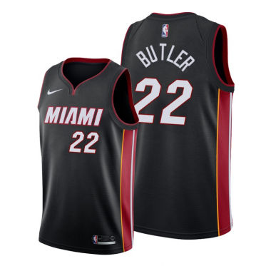 NBA Heat 22 Jimmy Butler Black Nike Men Jersey