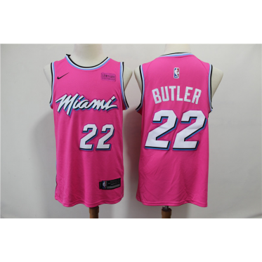 NBA Heat 22 Jimmy Butler Pink Earned Edition Nike Men Jersey