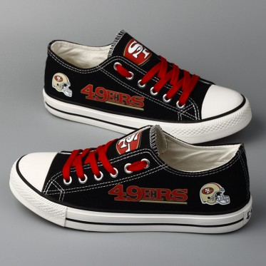 NFL San Francisco 49ers Repeat Print Low Top Sneakers