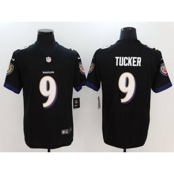 6350ef9e Nike Ravens 9 Justin Tucker Black Vapor Untouchable Limited Men Jersey