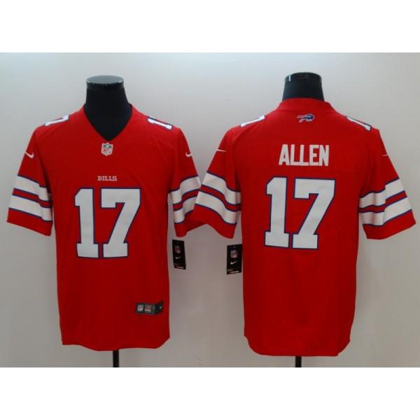 cc795b1c NFL Buffalo Bills 17 Josh Allen Nike Red Color Rush Limited Men Jersey