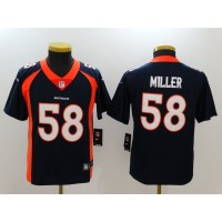 Nike Broncos 58 Von Miller Navy Vapor Untouchable Youth Limited Jersey