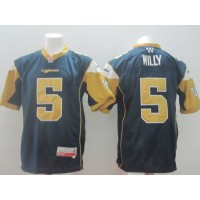 Winnipeg Blue Bombers No.5 Willy Blue Men's Football Jersey