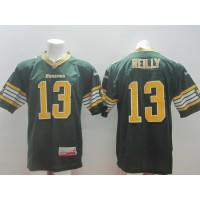 Edmonton Eskimos No.13 Mike Reilly Green Male Football Jersey