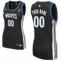 Minnesota Timberwolves Personalized Black Women's Basketball Jersey