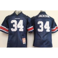 NCAA Auburn Tigers 34 Bo Jackson Blue Youth Jersey