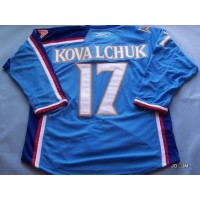 NHL Thrashers 17 Ilya Kovalchuk Blue Men Jersey