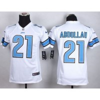 2015 Draft Nike Lions 21 Ameer Abdullah White Youth Stitched NFL Elite Jersey