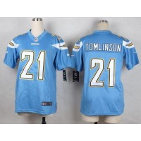 Nike Chargers 21 LaDainian Tomlinson Electric Blue Alternate Youth Stitched NFL New Elite Jersey