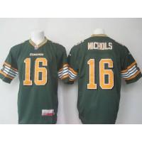 Eskimos 16 Matt Nichols Green Stitched CFL Jersey