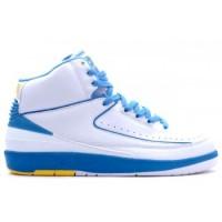 Air jordan II 2 Retro Mens Basketball Shoes Melo White Blue A02001