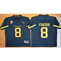 NCAA Arizona State Sun Devils 8 D. J. Foster New Black Basketball PAC-12 Patch Men Jersey