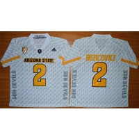 NCAA Arizona State Sun Devils 2 Mike Bercovici White New PAC-12 Men Jersey